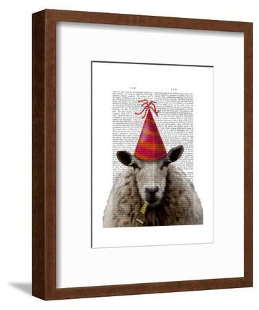 Party Sheep-Fab Funky-Framed Art Print