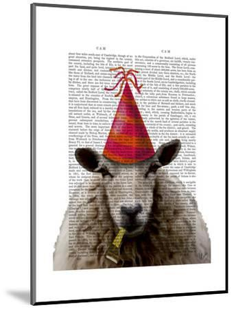 Party Sheep-Fab Funky-Mounted Art Print