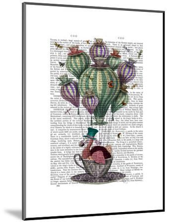 Dodo in Teacup with Dragonflies-Fab Funky-Mounted Art Print