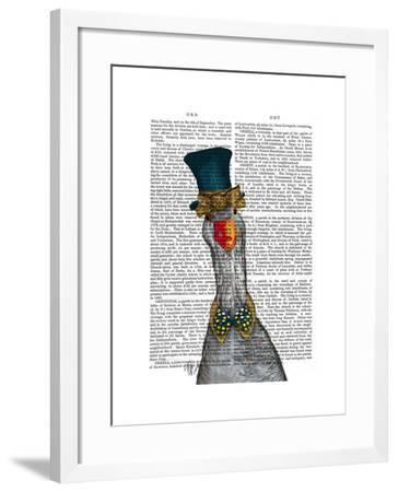 Goose in Blue Hat-Fab Funky-Framed Art Print