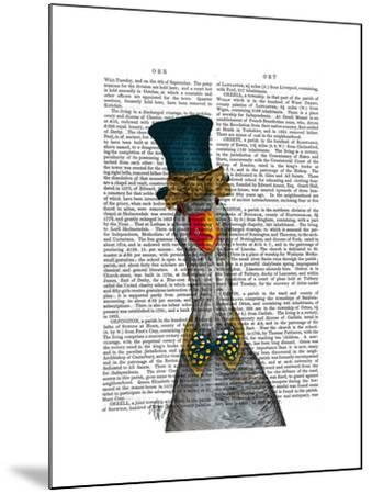 Goose in Blue Hat-Fab Funky-Mounted Art Print