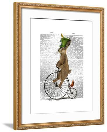 March Hare on Penny Farthing-Fab Funky-Framed Art Print