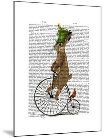 March Hare on Penny Farthing-Fab Funky-Mounted Art Print