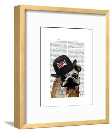 British Bulldog and Bowler Hat-Fab Funky-Framed Art Print
