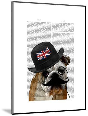 British Bulldog and Bowler Hat-Fab Funky-Mounted Art Print