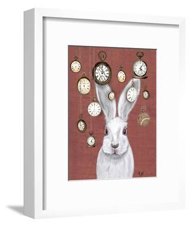Rabbit Time-Fab Funky-Framed Art Print
