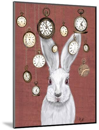 Rabbit Time-Fab Funky-Mounted Art Print