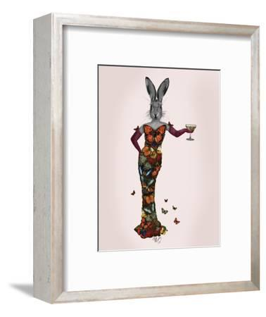 Rabbit Butterfly Dress-Fab Funky-Framed Art Print