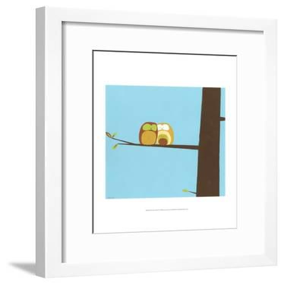 Treetop Owls IV-Erica J^ Vess-Framed Art Print