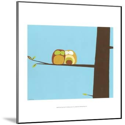 Treetop Owls IV-Erica J^ Vess-Mounted Art Print
