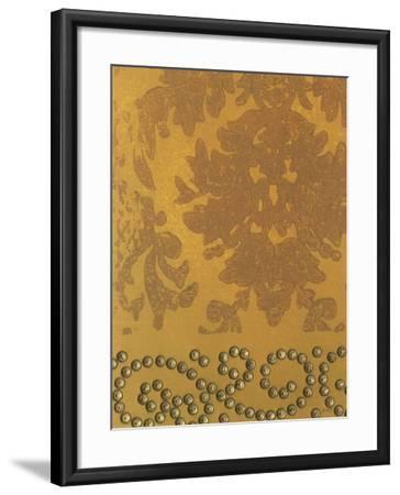 Damask with Nail Heads I-Norman Wyatt Jr^-Framed Art Print