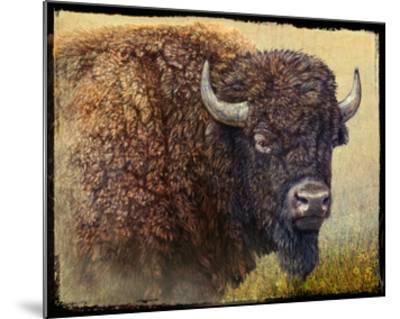 Bison Portrait I-Chris Vest-Mounted Art Print