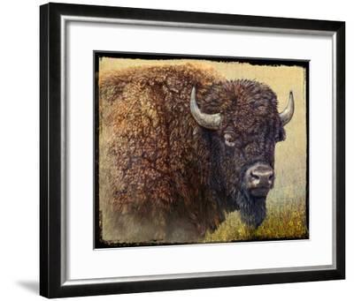 Bison Portrait I-Chris Vest-Framed Art Print