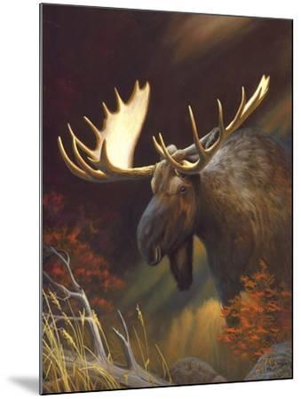 Moose Portrait-Leo Stans-Mounted Art Print