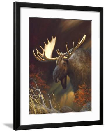 Moose Portrait-Leo Stans-Framed Art Print