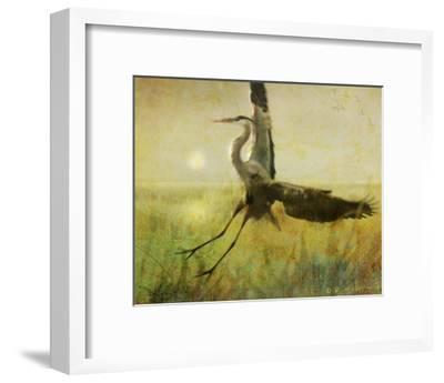 Foggy Heron II-Chris Vest-Framed Art Print