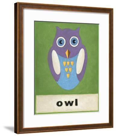 O is for Owl-Chariklia Zarris-Framed Art Print