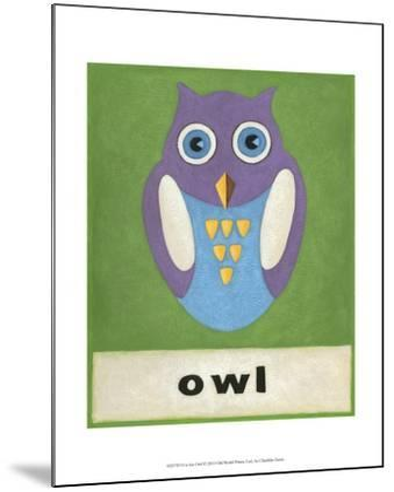 O is for Owl-Chariklia Zarris-Mounted Art Print