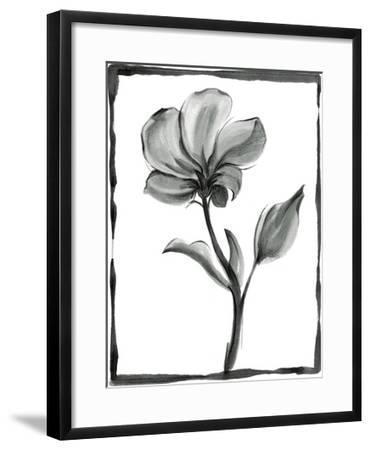 Non-embellished Sumi-e Floral I-Ethan Harper-Framed Art Print