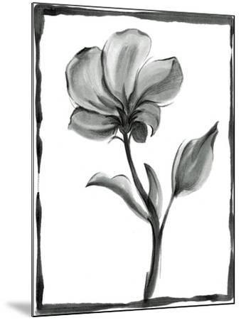 Non-embellished Sumi-e Floral I-Ethan Harper-Mounted Art Print
