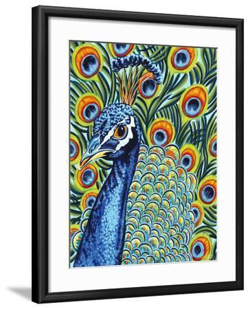 Plumed Peacock I-Carolee Vitaletti-Framed Art Print