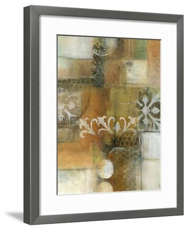 Modern Note II-W^ Green-Aldridge-Framed Art Print