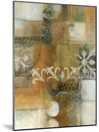 Modern Note II-W^ Green-Aldridge-Mounted Art Print