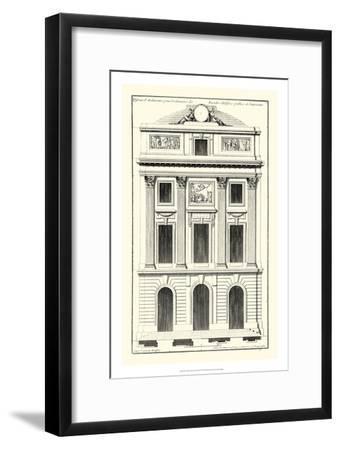 Crackle B&W Architectural Facade II-Jean Deneufforge-Framed Art Print