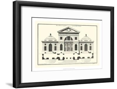 Crackle B&W Architectural Facade VI-Jean Deneufforge-Framed Art Print