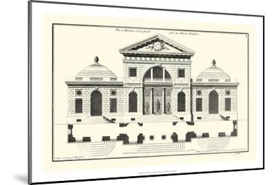 Crackle B&W Architectural Facade VI-Jean Deneufforge-Mounted Art Print