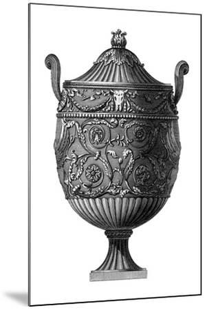 Black and White Urn III--Mounted Art Print