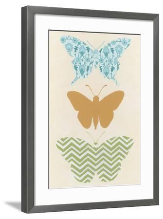 Butterfly Patterns IV-Erica J^ Vess-Framed Art Print