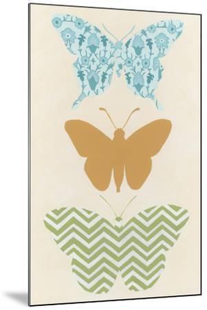 Butterfly Patterns IV-Erica J^ Vess-Mounted Art Print