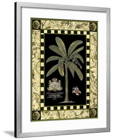 Bordered Palms on Black II--Framed Art Print
