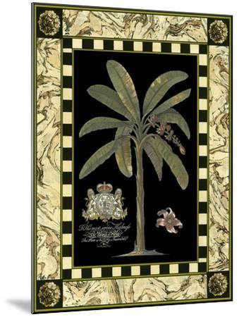 Bordered Palms on Black II--Mounted Art Print