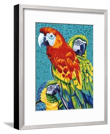 Birds in Paradise III-Carolee Vitaletti-Framed Art Print
