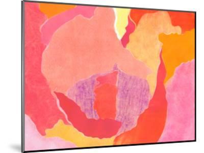 Cabbage Rose IV-Carolyn Roth-Mounted Art Print