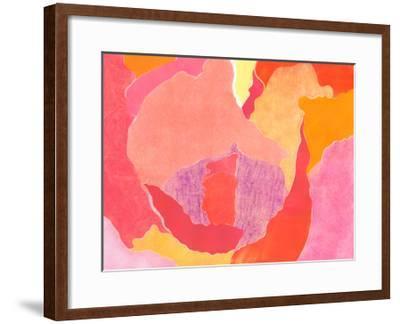 Cabbage Rose IV-Carolyn Roth-Framed Art Print