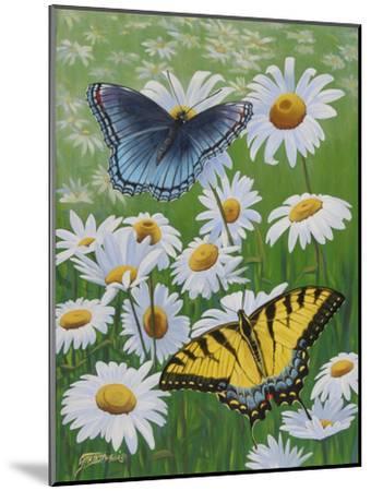 Butterflies and Daisies-Fred Szatkowski-Mounted Art Print
