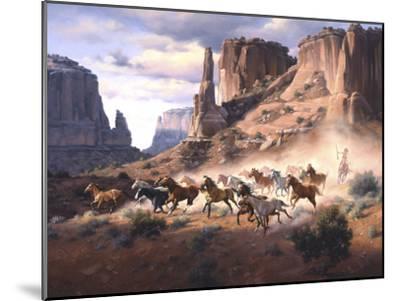 Sandstone and Stolen Horses-Jack Sorenson-Mounted Art Print