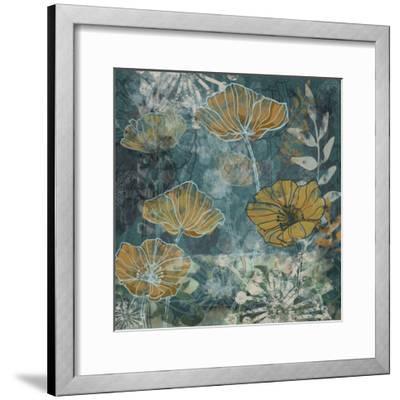 Navy Poppies II-Maria Woods-Framed Art Print