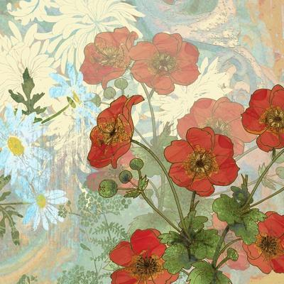 Summer Poppies II-R^ Collier-Morales-Framed Art Print