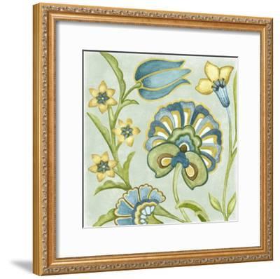 Decorative Golden Bloom II-Sydney Wright-Framed Art Print