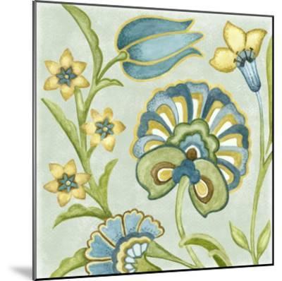 Decorative Golden Bloom II-Sydney Wright-Mounted Art Print