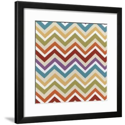 Retro Pattern II-Erica J^ Vess-Framed Art Print