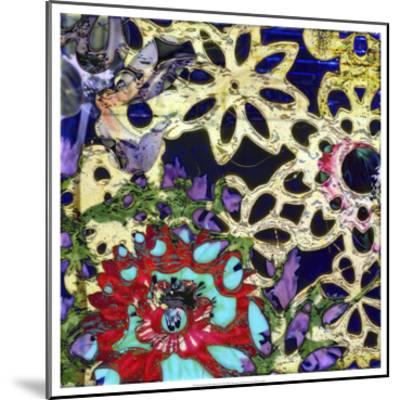 Bejeweled Woodblock IV-Ricki Mountain-Mounted Art Print