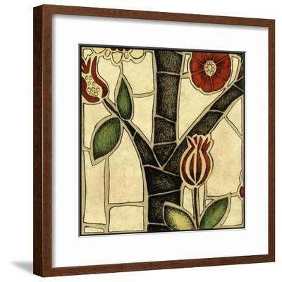Small Floral Mosaic III-Megan Meagher-Framed Art Print