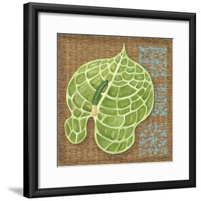Block Print Palm IV-Chariklia Zarris-Framed Art Print