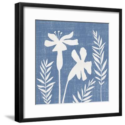 Small Blue Linen II-Megan Meagher-Framed Art Print