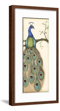Small Rebecca's Peacock I-Jennifer Goldberger-Framed Art Print